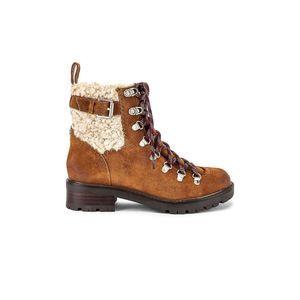 Sam Edelman Tenlee Suede Lace Up Faux Fur Boots